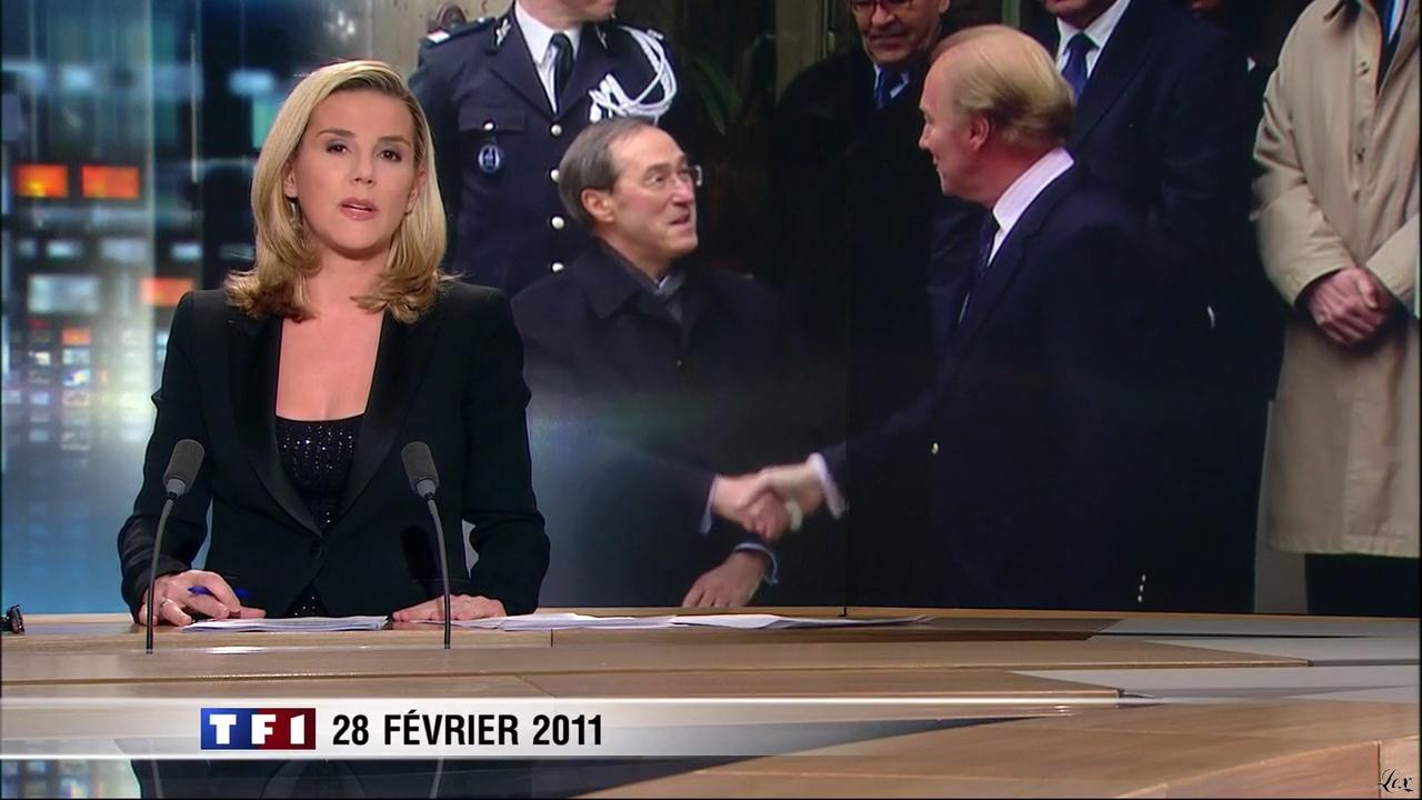 Laurence Ferrari au JT de 20h. Diffusé à la télévision le 28/02/11.