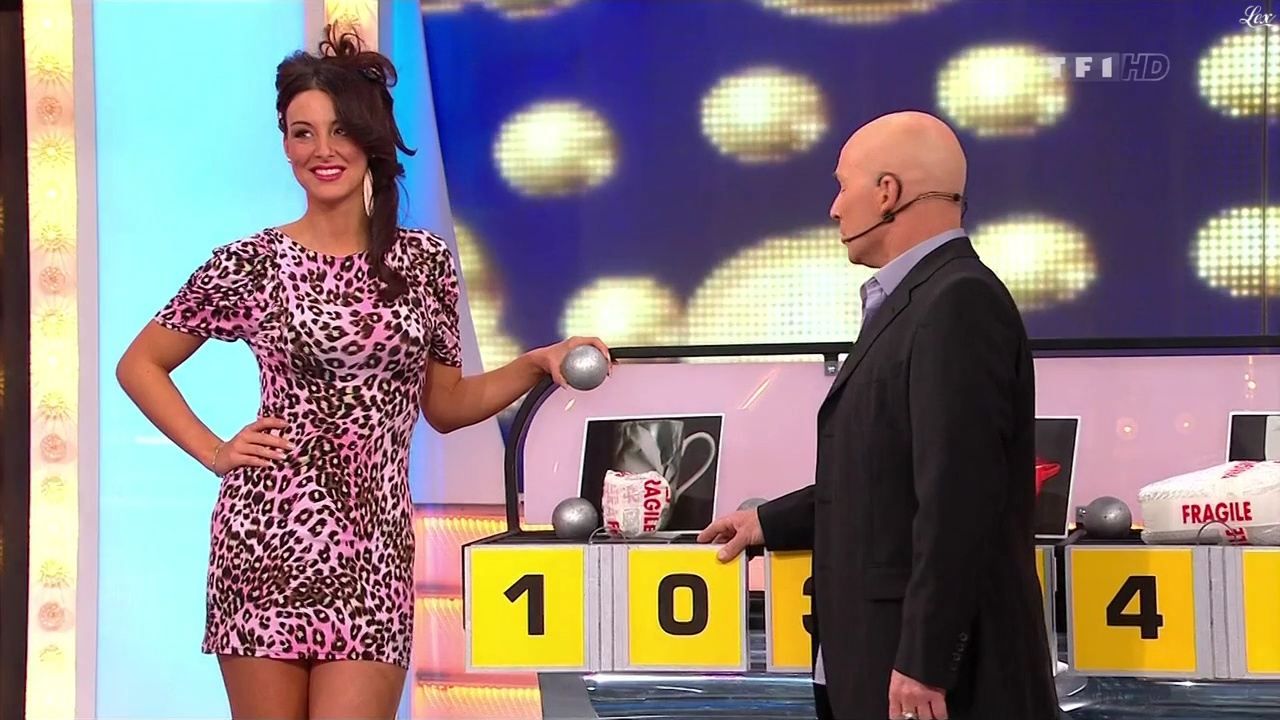 Fanny Veyrac dans le Juste Prix. Diffusé à la télévision le 25/02/11.