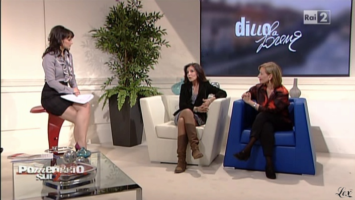 Lorena Bianchetti dans Dillo à Lorena. Diffusé à la télévision le 16/12/10.