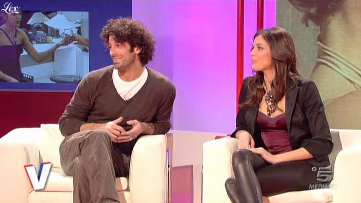 Vanessa Ravizza dans Verissimo. Diffusé à la télévision le 20/02/10.