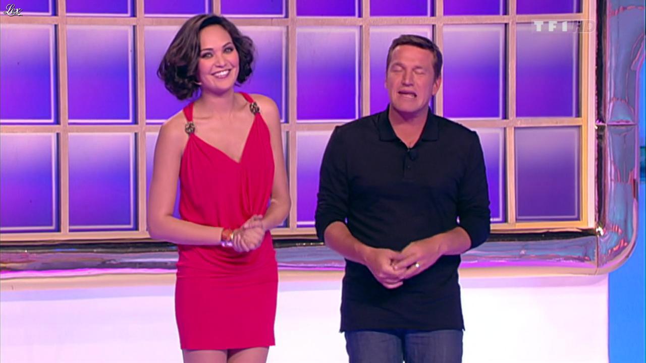 Valérie Bègue dans la Roue de la Fortune. Diffusé à la télévision le 29/02/12.