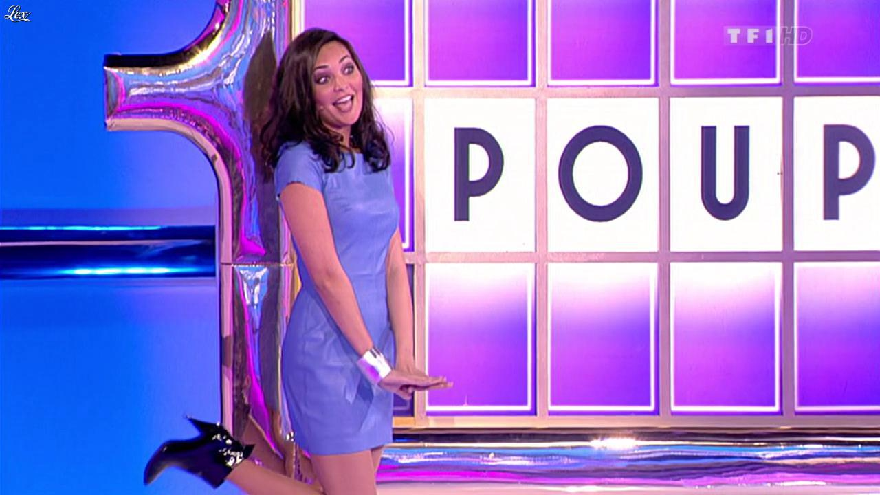 Valérie Bègue dans la Roue de la Fortune. Diffusé à la télévision le 30/01/12.