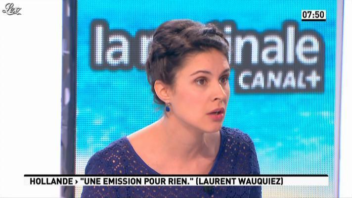 Apolline De Malherbe dans la Matinale. Diffusé à la télévision le 29/03/13.