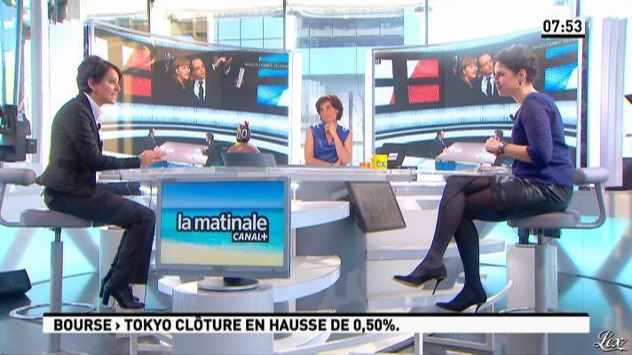 Apolline De Malherbe et Nathalie Iannetta dans la Matinale. Diffusé à la télévision le 29/03/13.