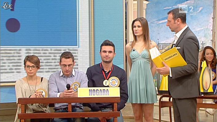 Arianna Rendina dans Mezzogiorno in Famiglia. Diffusé à la télévision le 19/01/13.