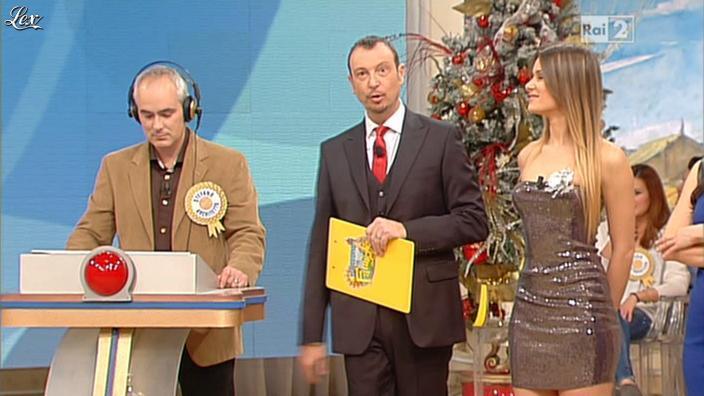 Arianna Rendina dans Mezzogiorno in Famiglia. Diffusé à la télévision le 30/12/12.
