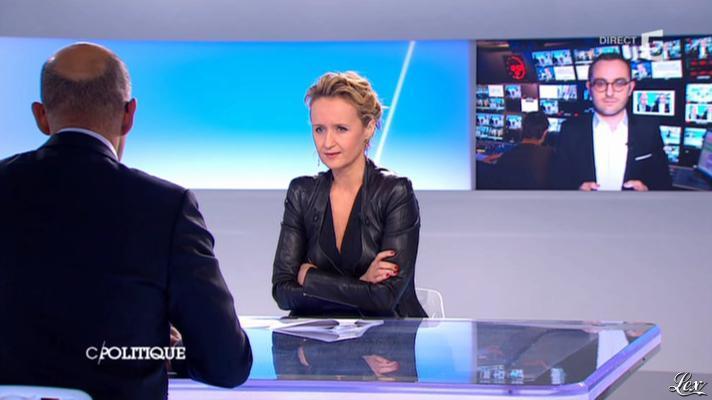 Caroline Roux dans C Politique. Diffusé à la télévision le 24/03/13.