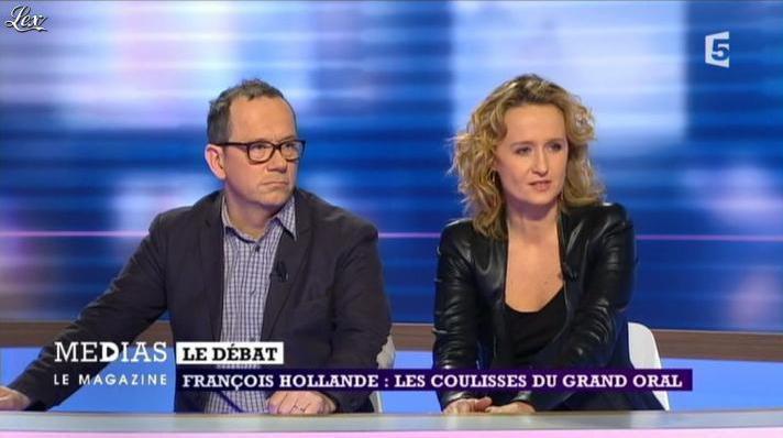Caroline Roux dans Medias le Mag. Diffusé à la télévision le 31/03/13.