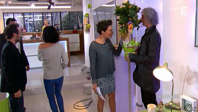 Jenifer Bartoli dans C à Vous. Diffusé à la télévision le 11/04/13.