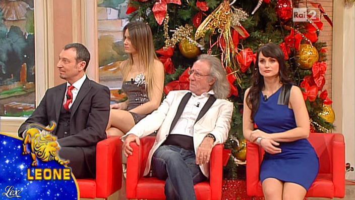 Lorena Bianchetti et Arianna Rendina dans Mezzogiorno in Famiglia. Diffusé à la télévision le 30/12/12.