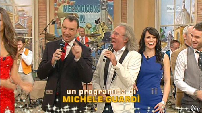 Lorena Bianchetti dans Mezzogiorno in Famiglia. Diffusé à la télévision le 30/12/12.
