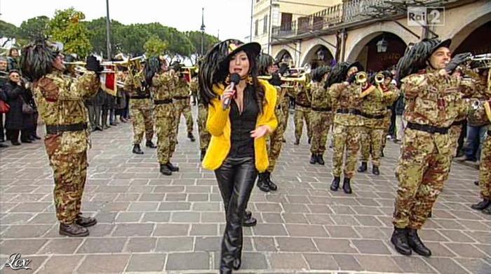 Roberta Gangeri dans Mezzogiorno in Famiglia. Diffusé à la télévision le 17/03/13.