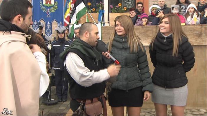 Silvia Squizzato et Laura Squizzato dans Mezzogiorno in Famiglia. Diffusé à la télévision le 27/01/13.