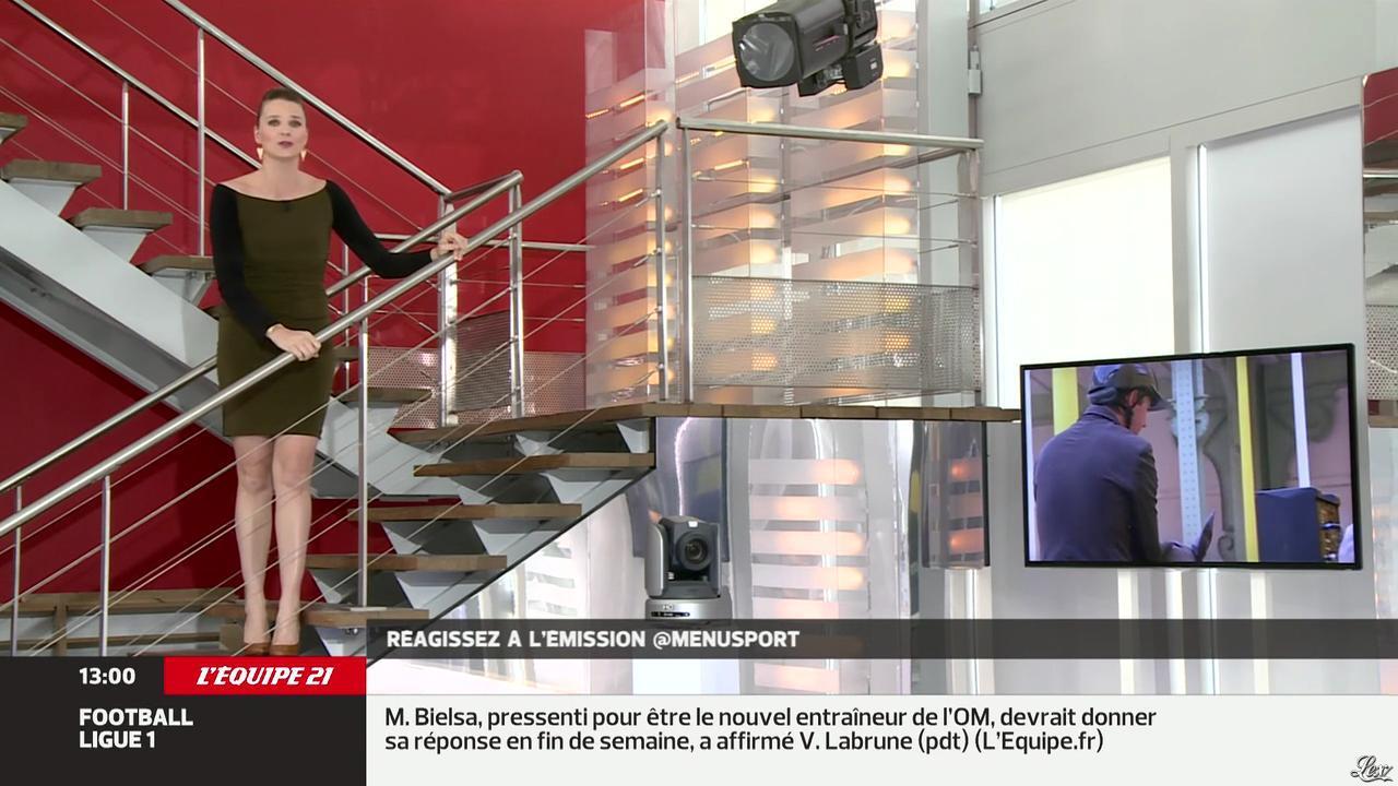 France Pierron dans Menu Sport. Diffusé à la télévision le 15/04/14.