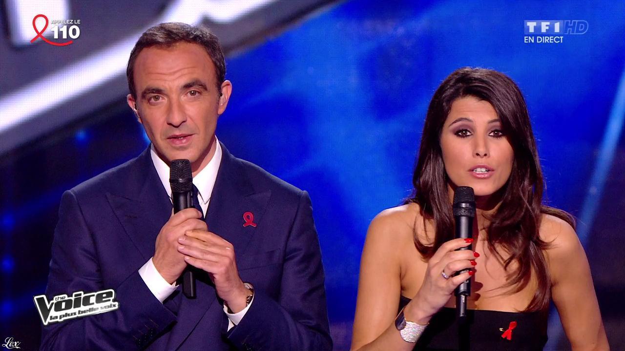 Karine Ferri dans The Voice. Diffusé à la télévision le 05/04/14.