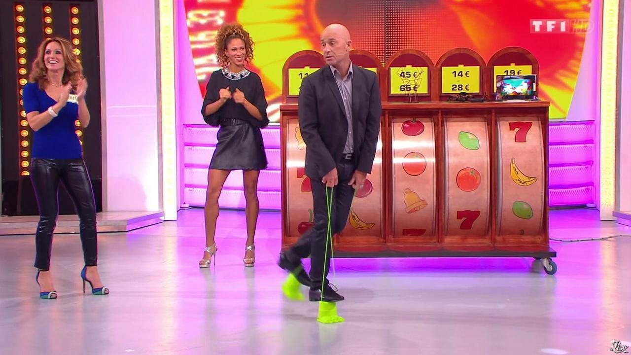 Les Gafettes, Doris Rouesne et Carla dans le Juste Prix. Diffusé à la télévision le 17/12/13.