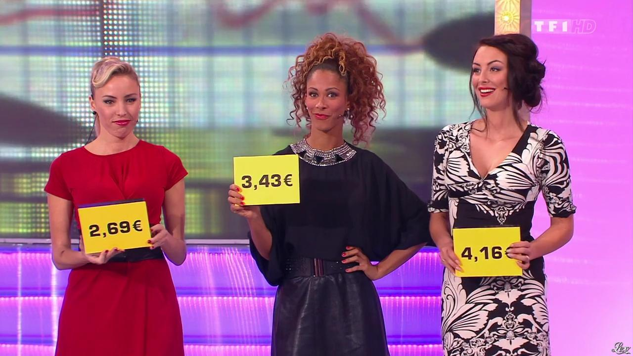 Les Gafettes, Fanny Veyrac, Doris Rouesne et Nadia Aydanne dans le Juste Prix. Diffusé à la télévision le 17/12/13.