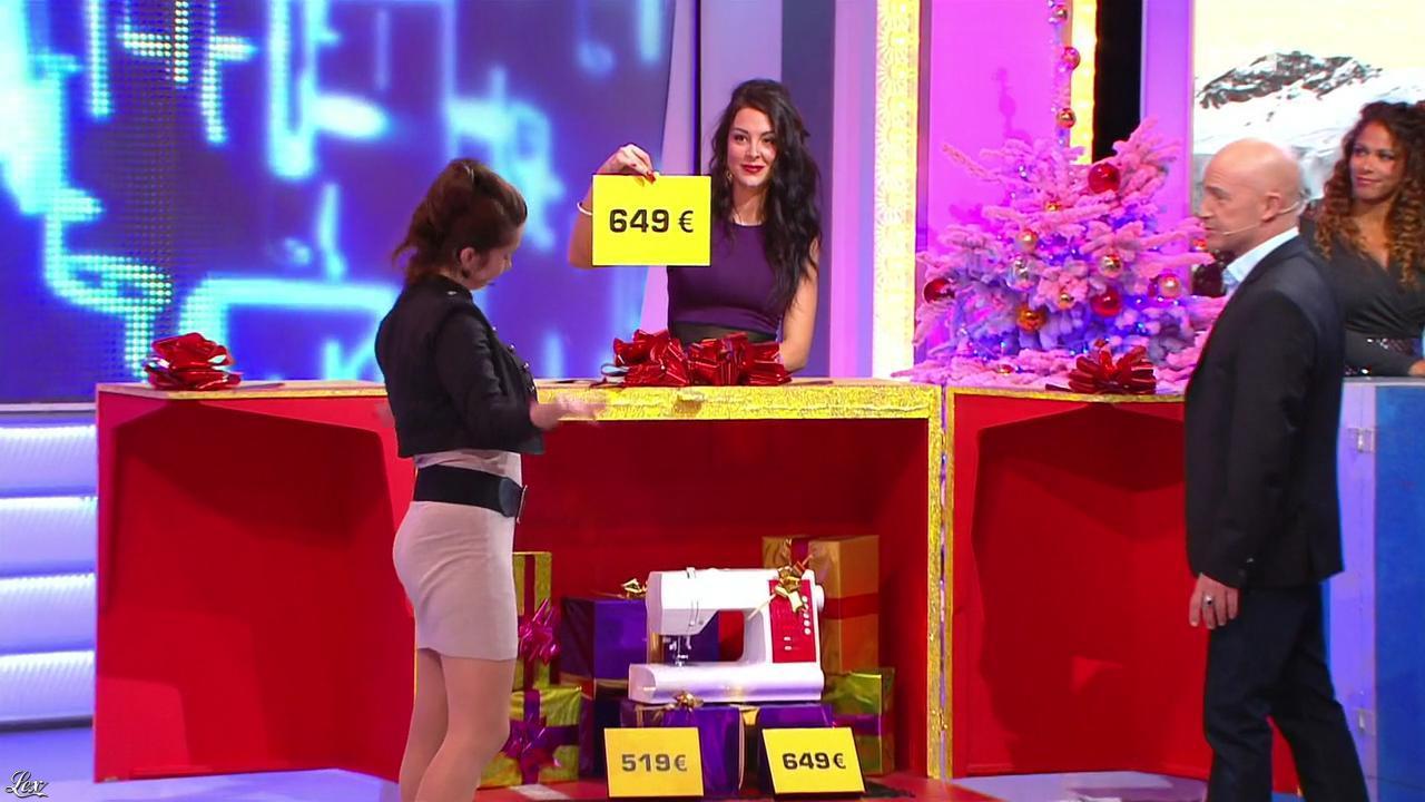 Les Gafettes, Vanessa, Fanny Veyrac et Doris Rouesne dans le Juste Prix. Diffusé à la télévision le 20/12/13.