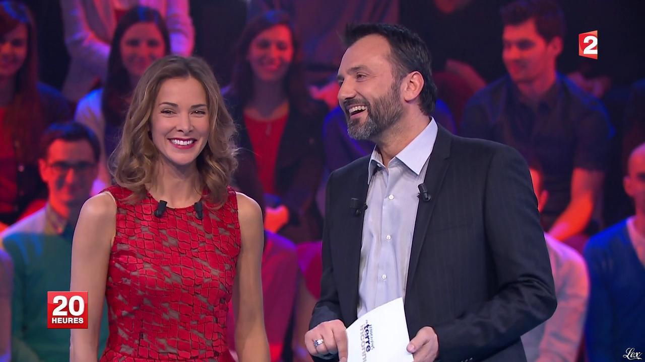 Mélissa Theuriau dans le 20h. Diffusé à la télévision le 21/01/14.