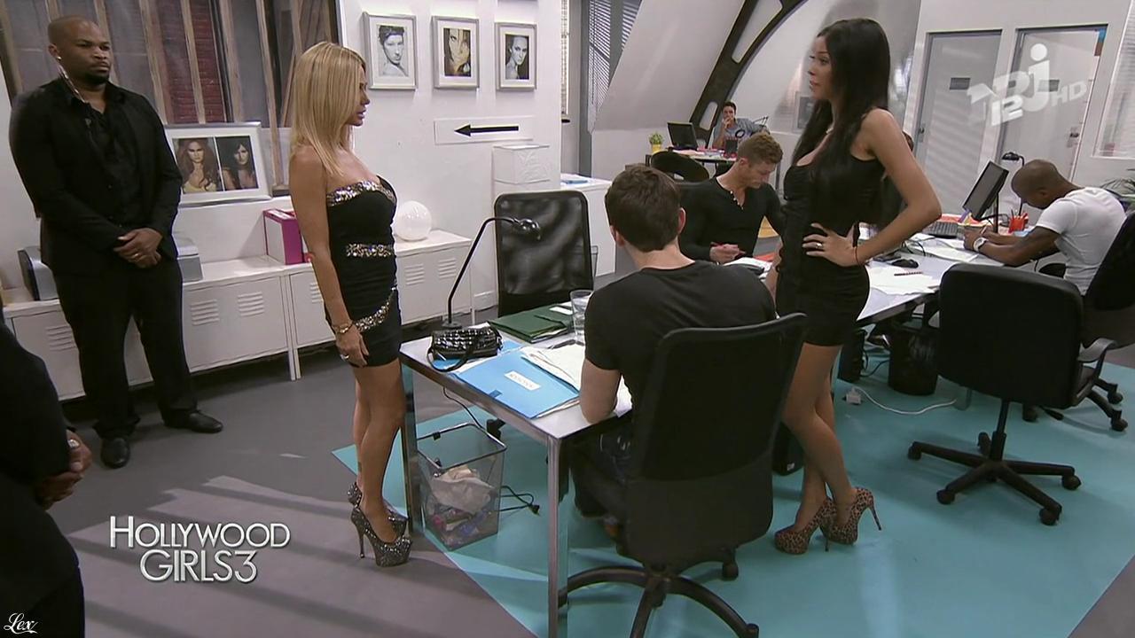 Nabilla Benattia et Shauna Sand dans Hollywood Girls. Diffusé à la télévision le 03/01/14.