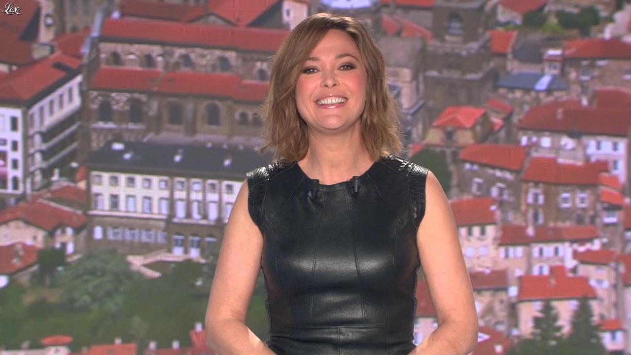 Sandrine Quétier lors du Tirage du Loto. Diffusé à la télévision le 09/04/14.