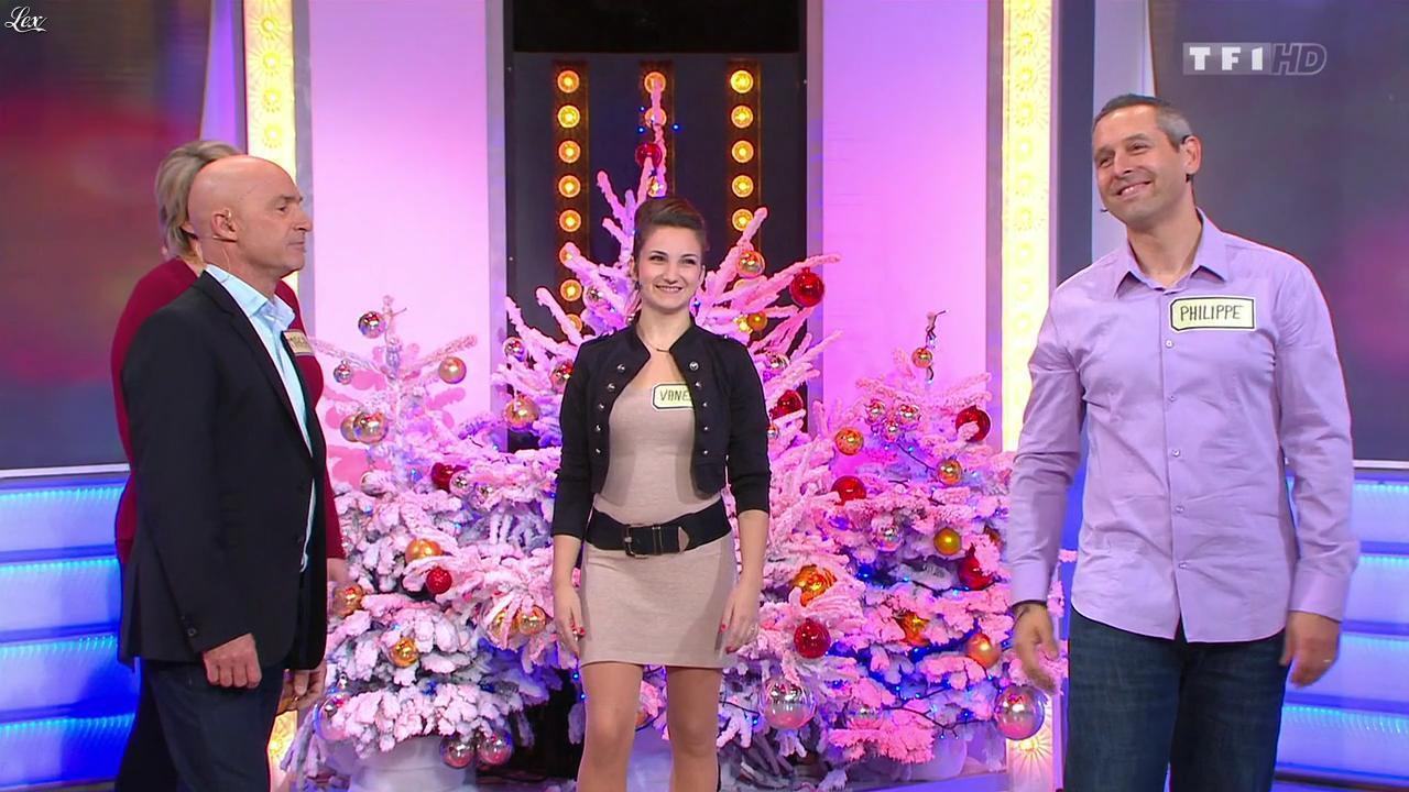 Vanessa dans le Juste Prix. Diffusé à la télévision le 20/12/13.