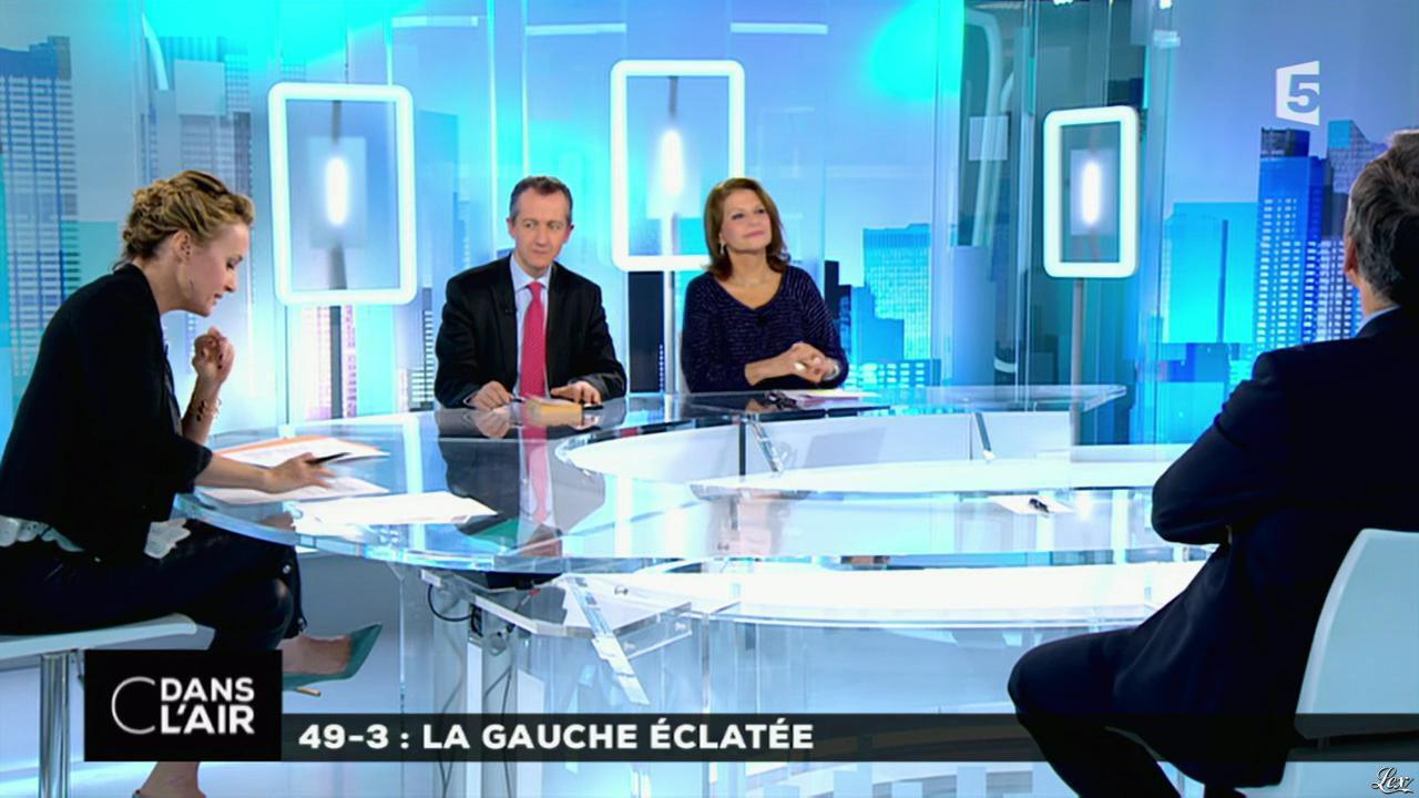 Caroline Roux dans C dans l'Air. Diffusé à la télévision le 19/02/15.