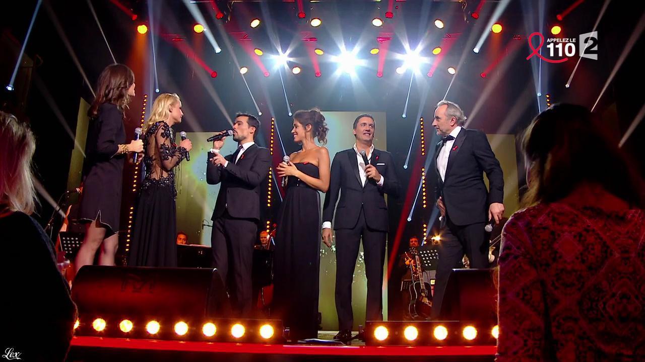Elodie Gossuin, Tania Young et Laurie Cholewa dans la Télé Chante pour le Sidaction. Diffusé à la télévision le 28/03/15.