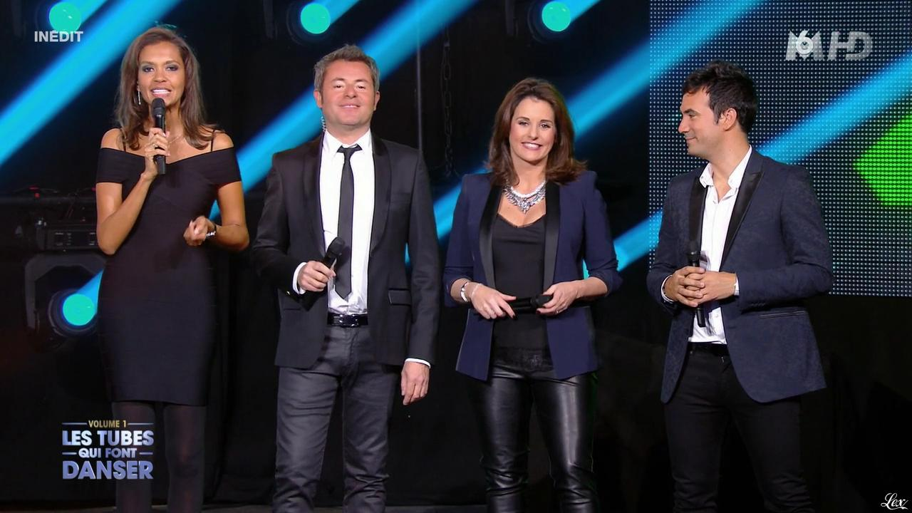 Faustine Bollaert et Karine Le Marchand dans M6 Fête les 30 Ans du Top 50. Diffusé à la télévision le 22/04/15.