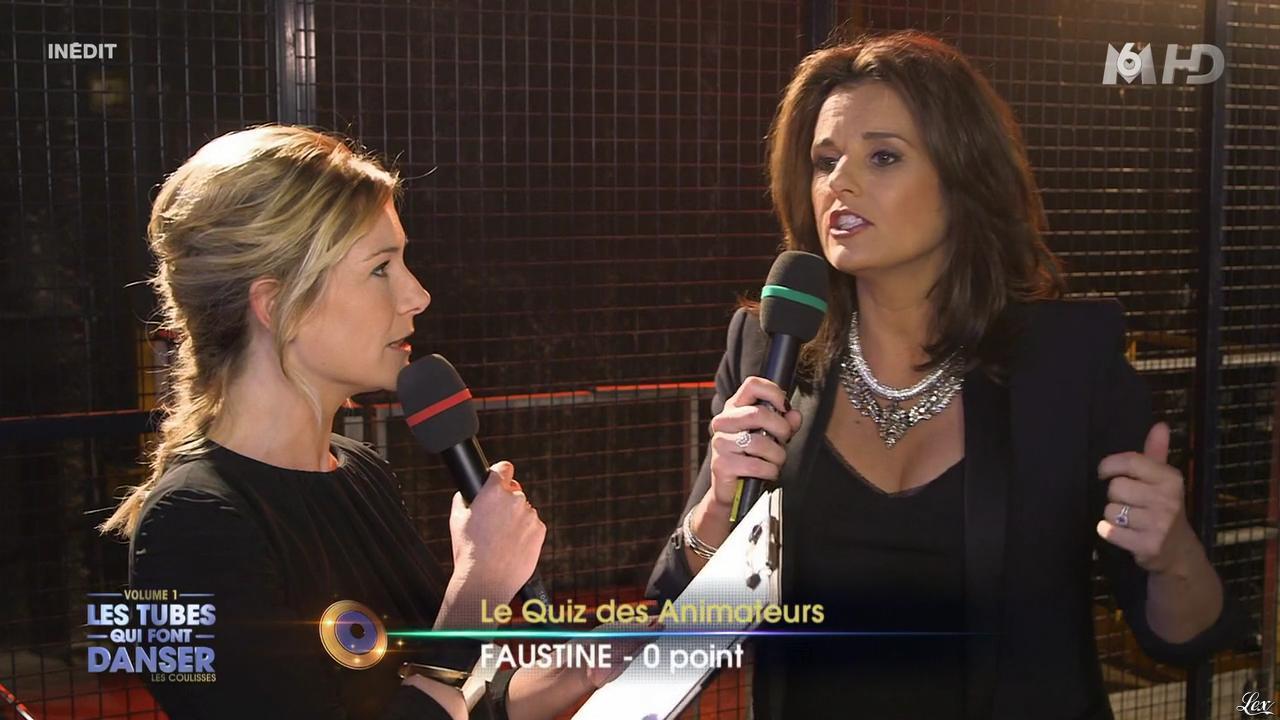 Faustine Bollaert et Louise Ekland dans M6 Fête les 30 Ans du Top 50. Diffusé à la télévision le 22/04/15.
