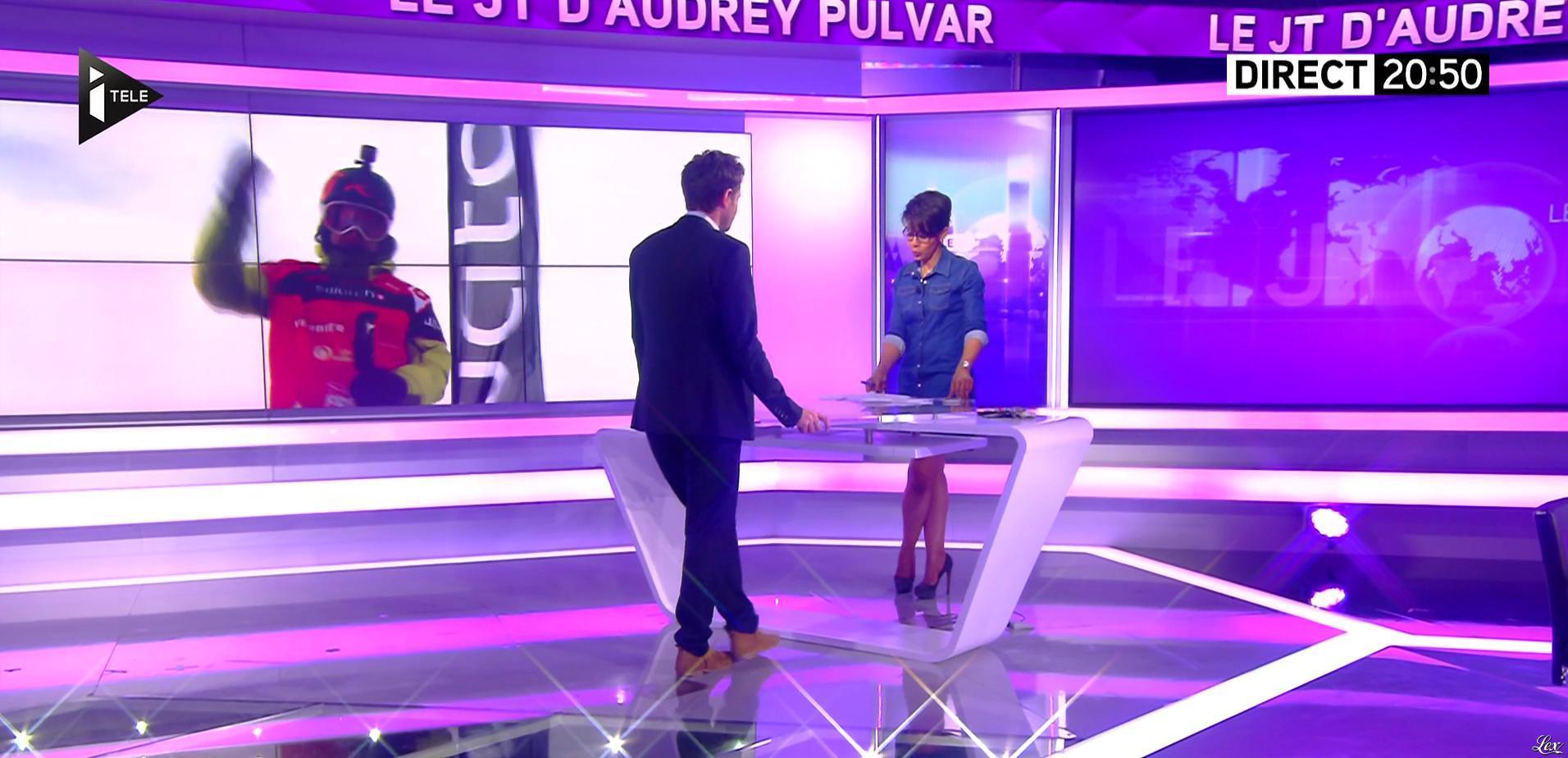 Audrey Pulvar dans le JT. Diffusé à la télévision le 19/04/16.