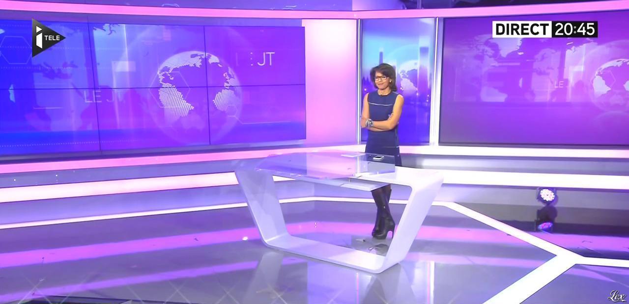 Audrey Pulvar dans le JT. Diffusé à la télévision le 30/03/16.