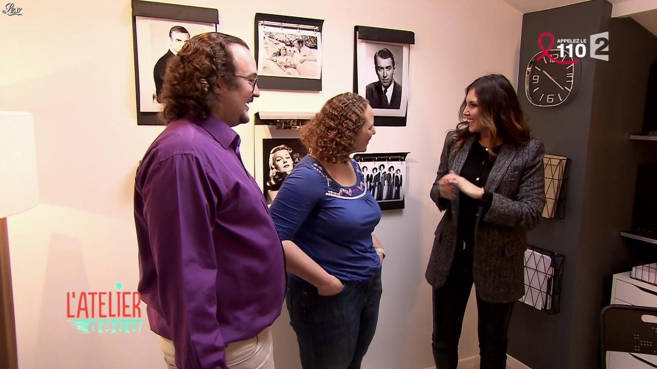 Aurélie Hemar dans l'Atelier Deco. Diffusé à la télévision le 02/04/16.