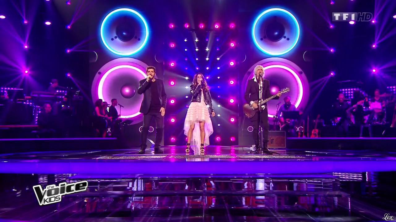 Jenifer Bartoli dans The Voice Kids. Diffusé à la télévision le 23/10/15.