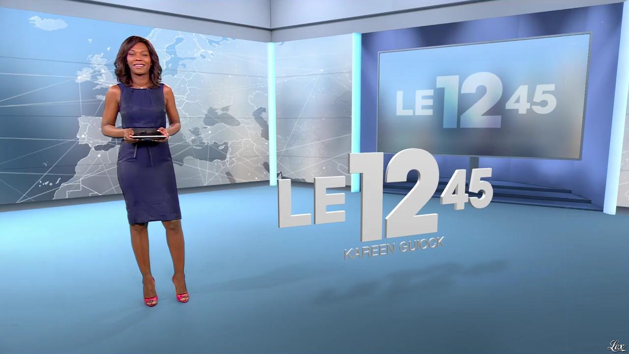 Kareen Guiock dans le 12-45. Diffusé à la télévision le 15/12/15.