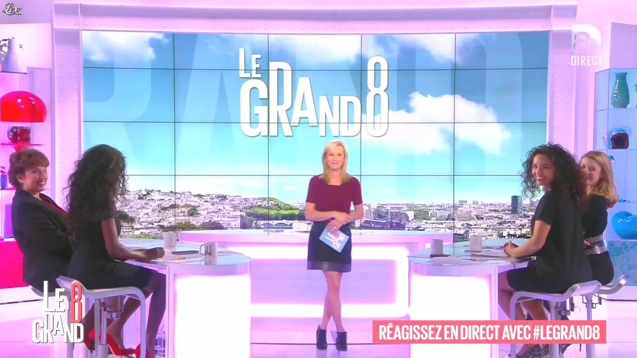 Laurence Ferrari, Hapsatou Sy et Aïda Touihri dans le Grand 8. Diffusé à la télévision le 10/11/15.