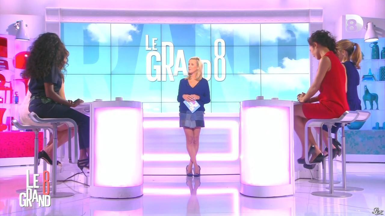 Laurence Ferrari, Hapsatou Sy et Aïda Touihri dans le Grand 8. Diffusé à la télévision le 25/09/15.