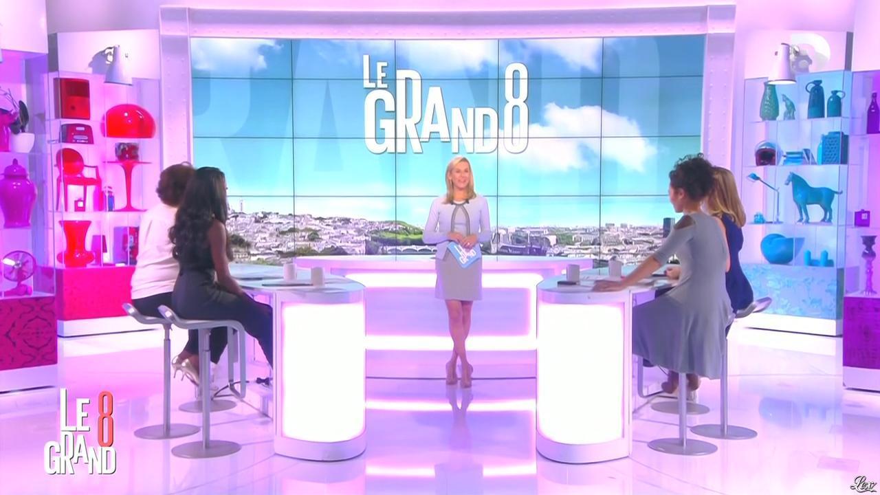 Laurence Ferrari, Hapsatou Sy et Aïda Touihri dans le Grand 8. Diffusé à la télévision le 30/10/15.