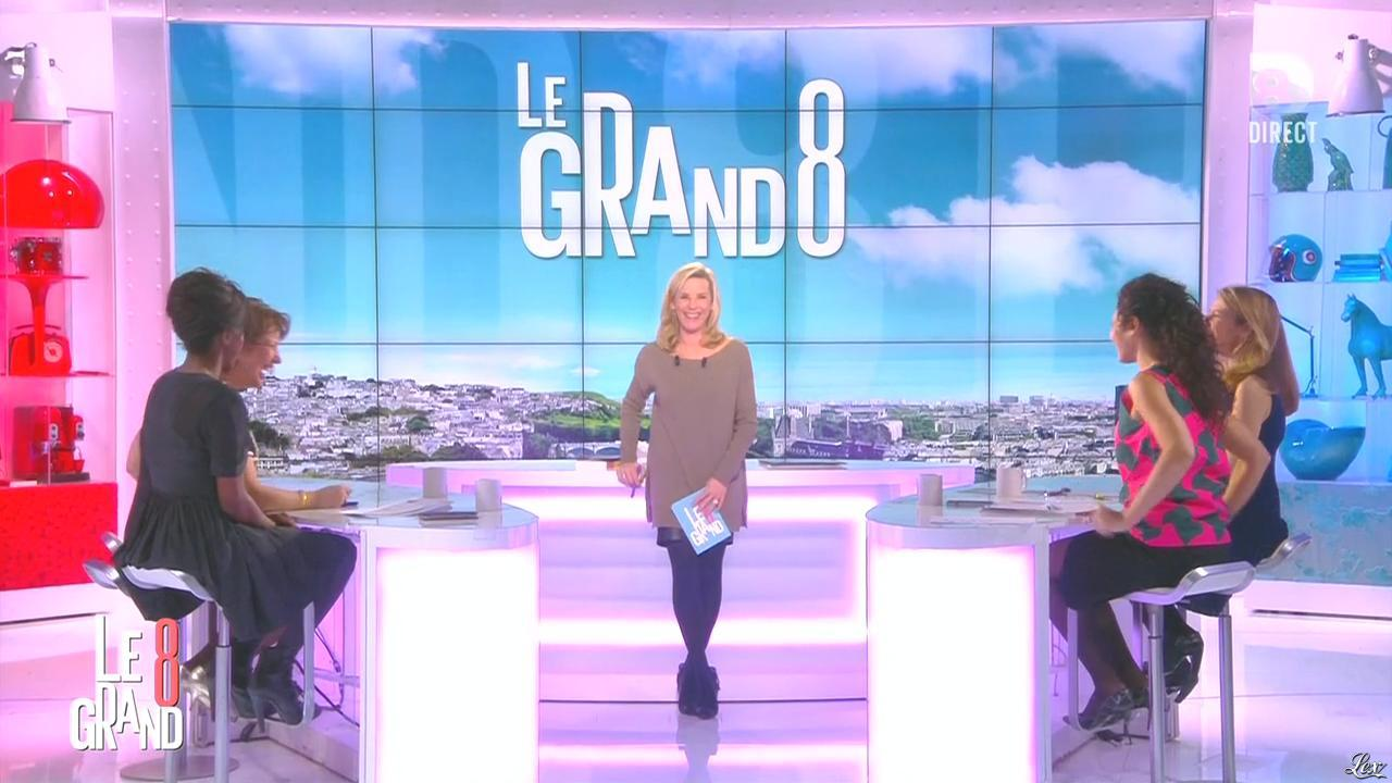 Laurence Ferrari et Hapsatou Sy dans le Grand 8. Diffusé à la télévision le 10/02/16.