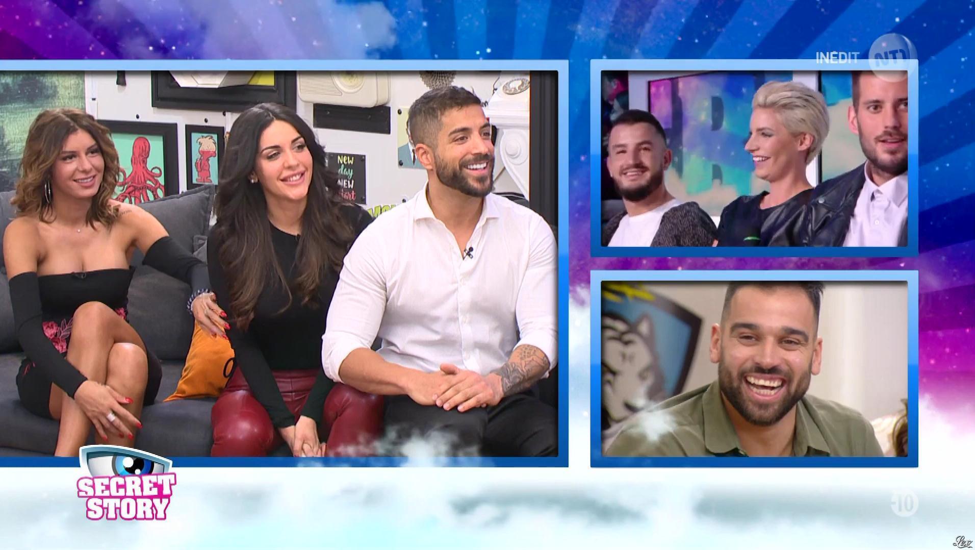 Kamila et Nadege Lacroix dans Secret Story. Diffusé à la télévision le 23/11/17.