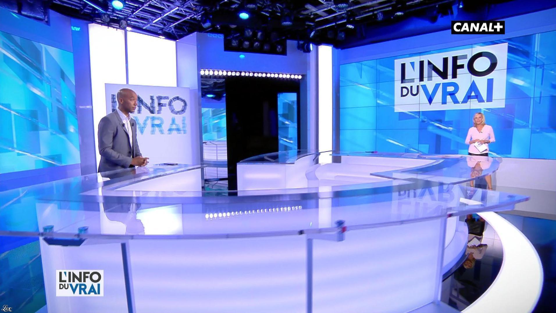 Laurence Ferrari dans l'Info du Vrai. Diffusé à la télévision le 25/05/18.