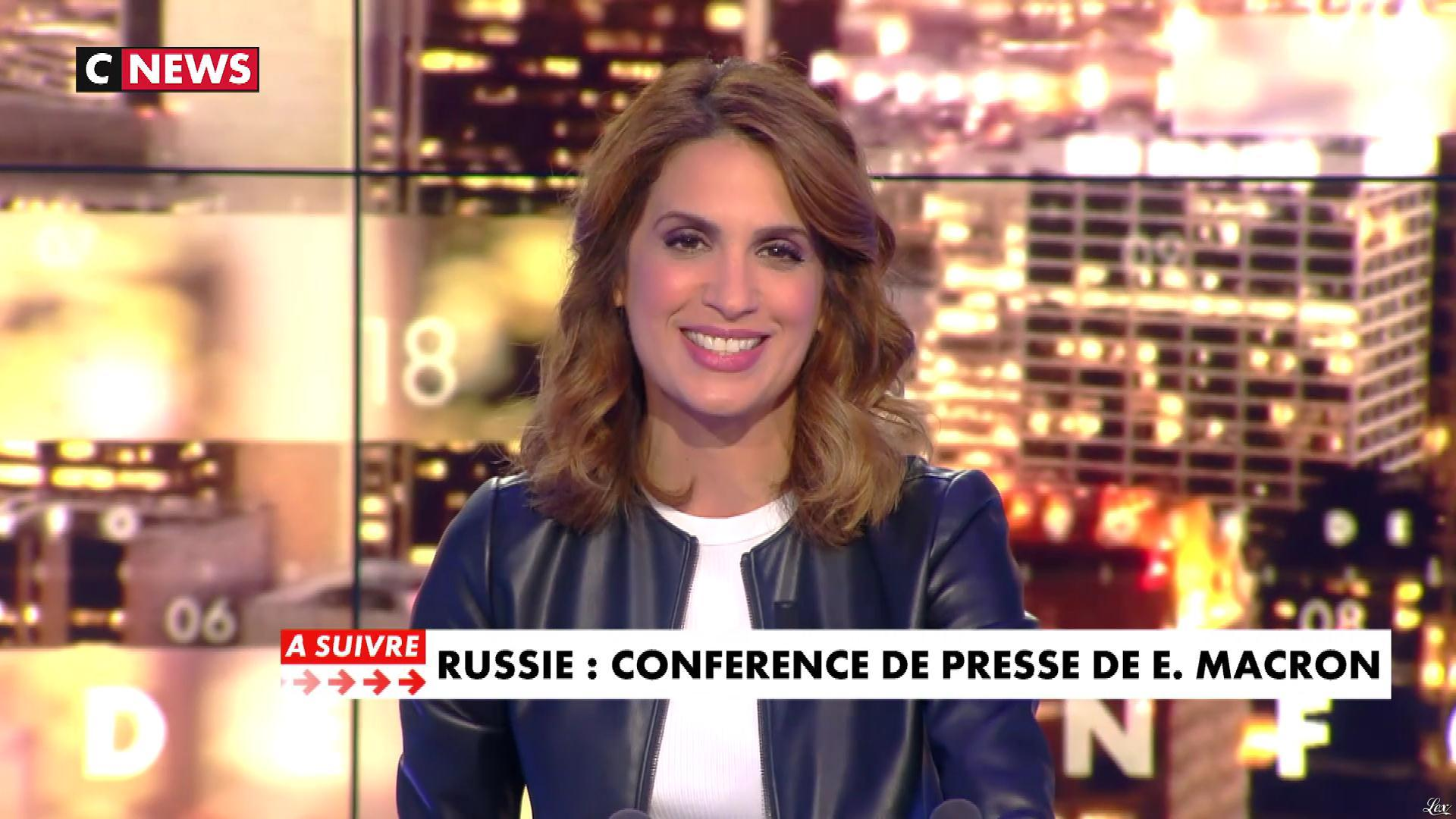 Sonia Mabrouk dans les Voix de l'Info. Diffusé à la télévision le 24/05/18.