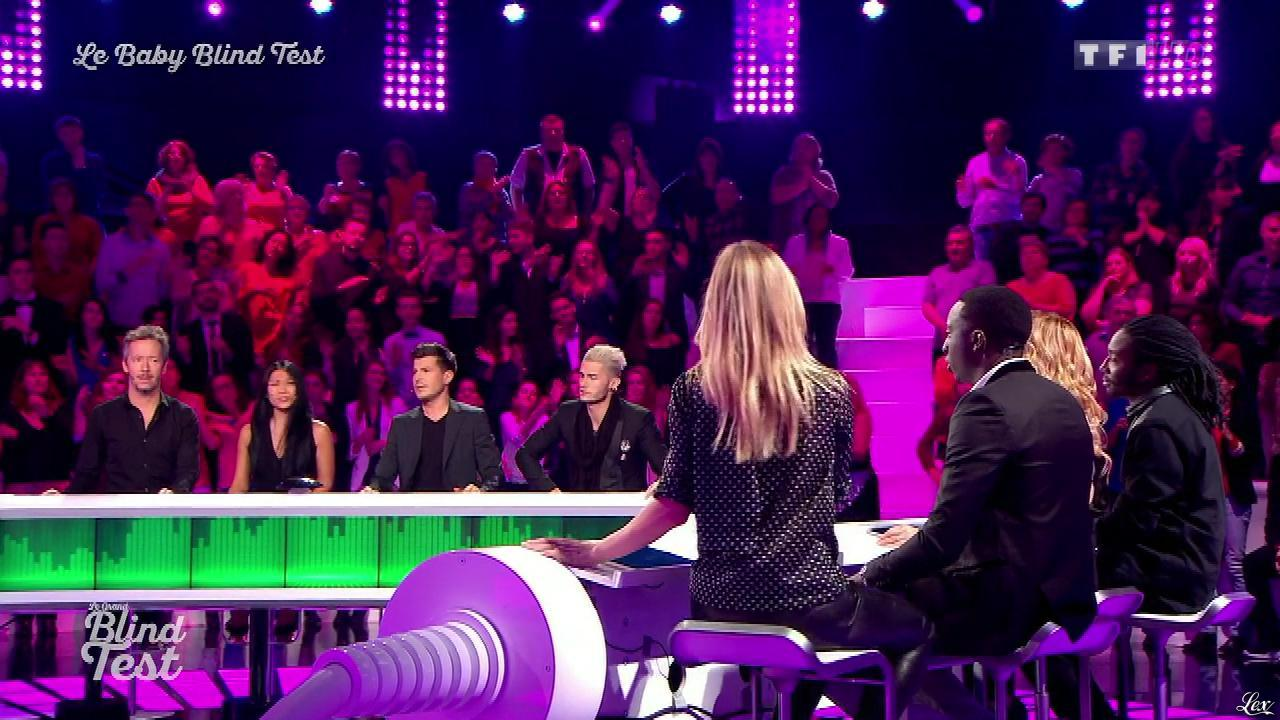 Véronic Dicaire dans le Grand Blind Test. Diffusé à la télévision le 02/01/16.