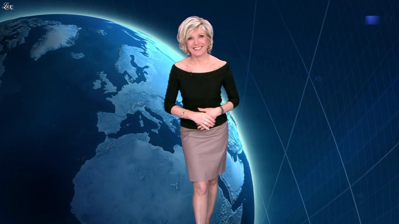 Evelyne Dhéliat dans la Meteo de 20h. Diffusé à la télévision le 08/02/12.
