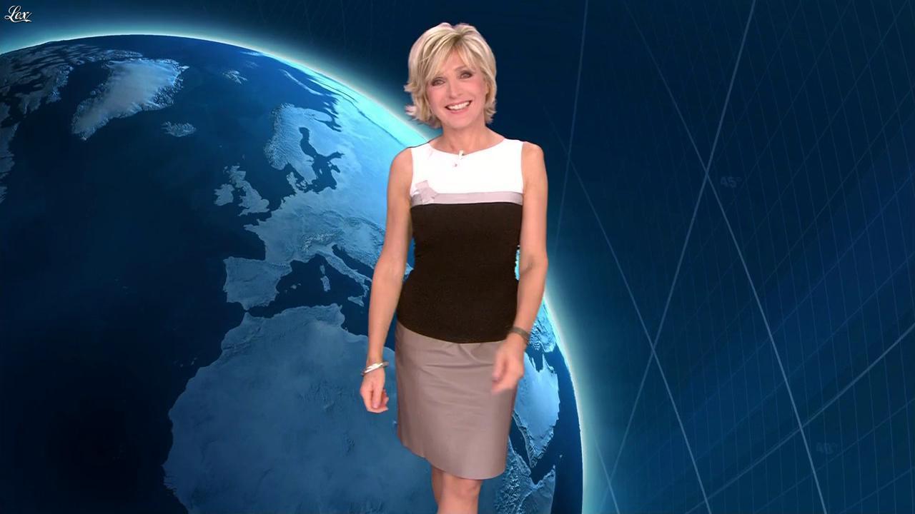 Evelyne Dhéliat dans la Meteo de 20h. Diffusé à la télévision le 15/09/11.