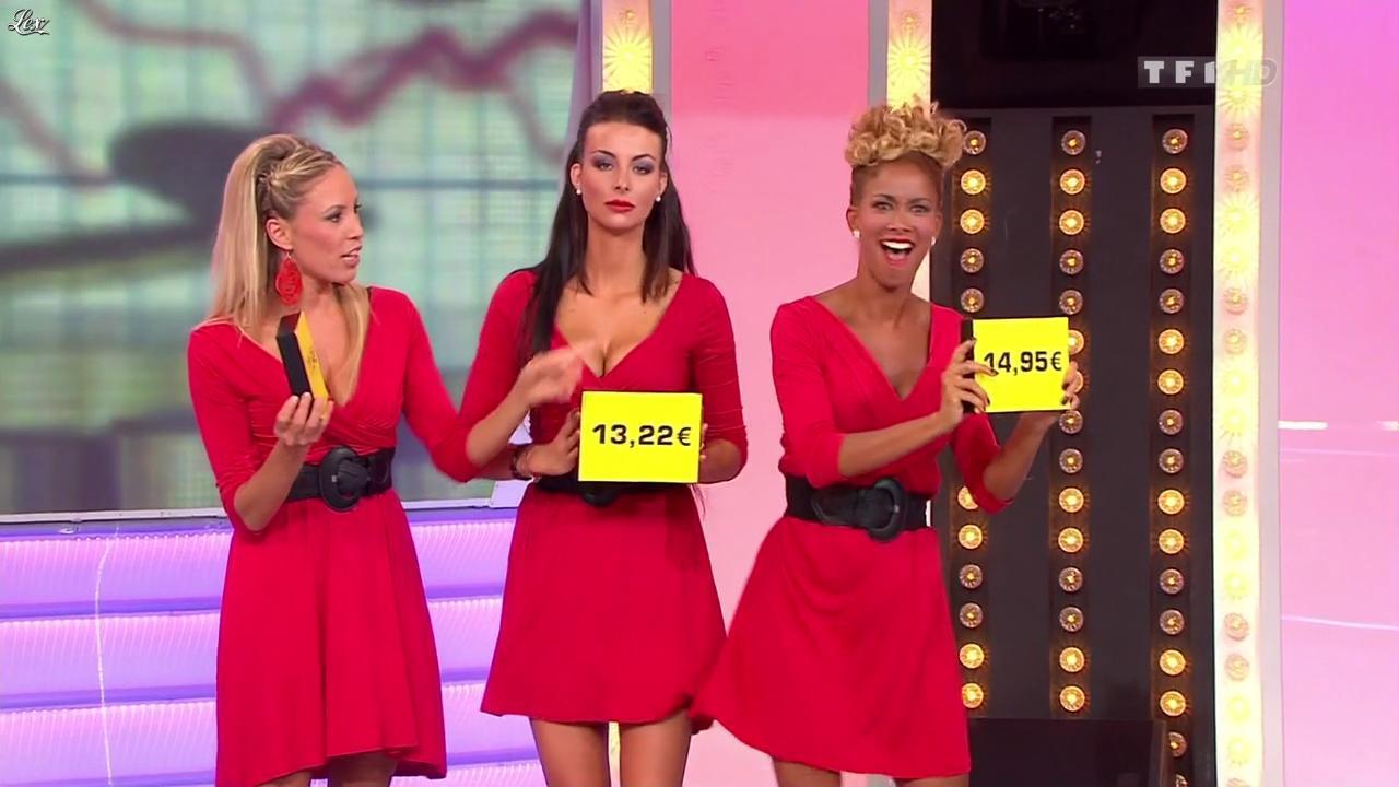 Fanny Veyrac, Nadia Aydanne, Doris Rouesne et Les Gafettes dans le Juste Prix. Diffusé à la télévision le 06/10/11.
