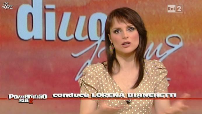 Lorena Bianchetti dans Dillo à Lorena. Diffusé à la télévision le 08/04/11.