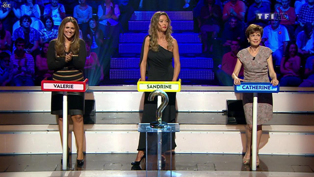 Valérie Benaim et Sandrine Quétier dans le Grand Concours des Animateurs. Diffusé à la télévision le 17/09/11.