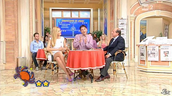 Adriana Volpe dans I Fatti Vostri. Diffusé à la télévision le 26/09/11.
