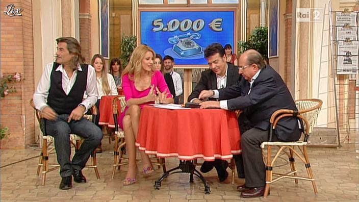 Adriana Volpe dans I Fatti Vostri. Diffusé à la télévision le 30/01/13.